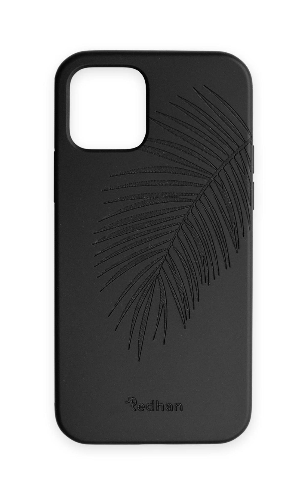 Eco Friendly iPhone 12 / 12 Pro Phone Case - Palm Leaf in Pitch Black