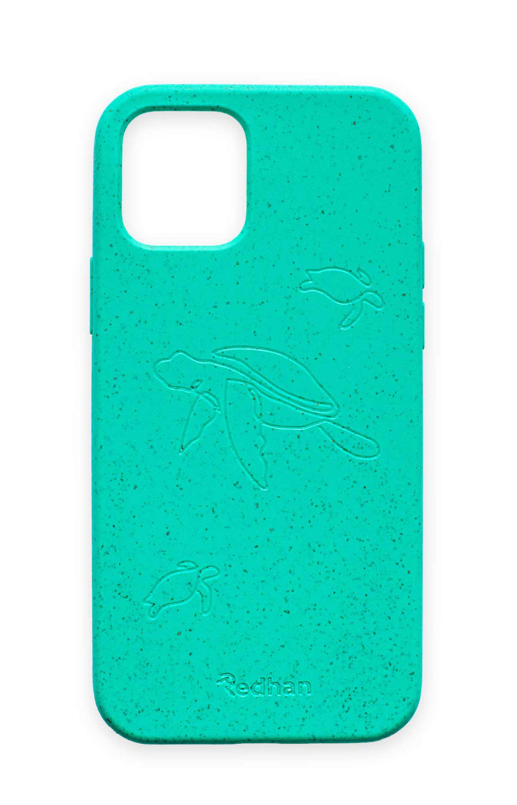 Eco Friendly iPhone 12 Mini Phone Case - Turtle in Turquoise