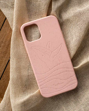 Eco Friendly iPhone 12 Mini Phone Case - Whale 2.0 in Blush Pink
