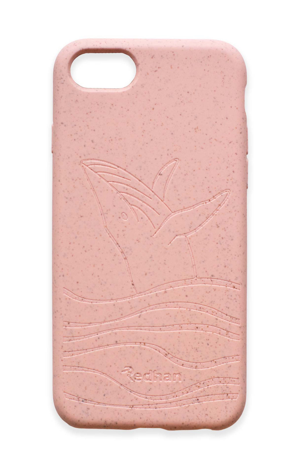 Eco Friendly iPhone 6+/6S+/7+/8+ Phone Case - Whale in Blush Pink