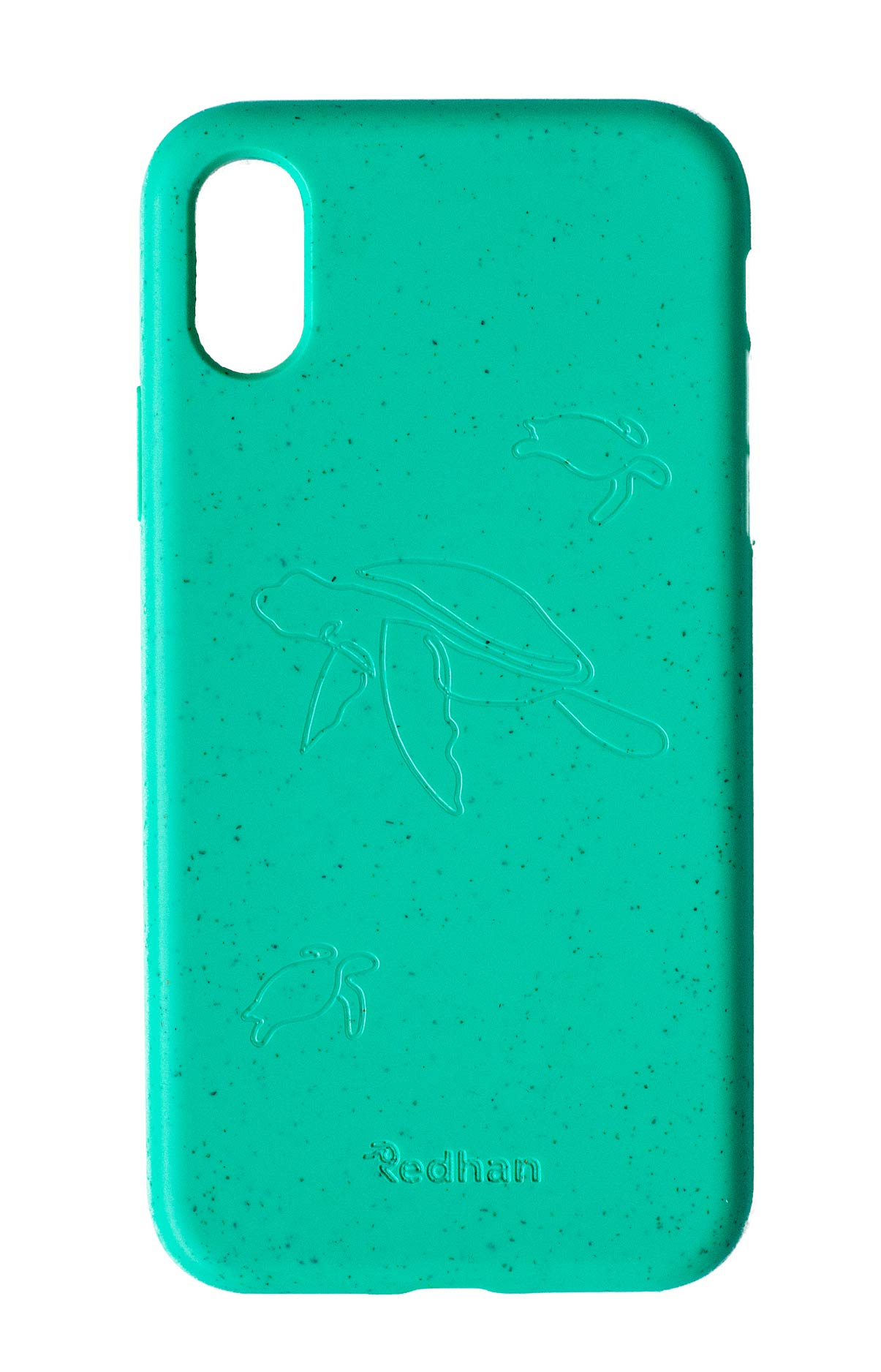 Eco Friendly iPhone XS Max Phone Case - Turtle in Turquoise