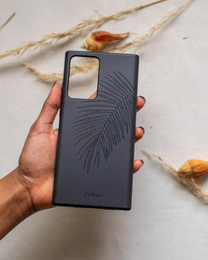 Eco Friendly Note 20 Ultra Phone Case - Palm Leaf in Pitch Black