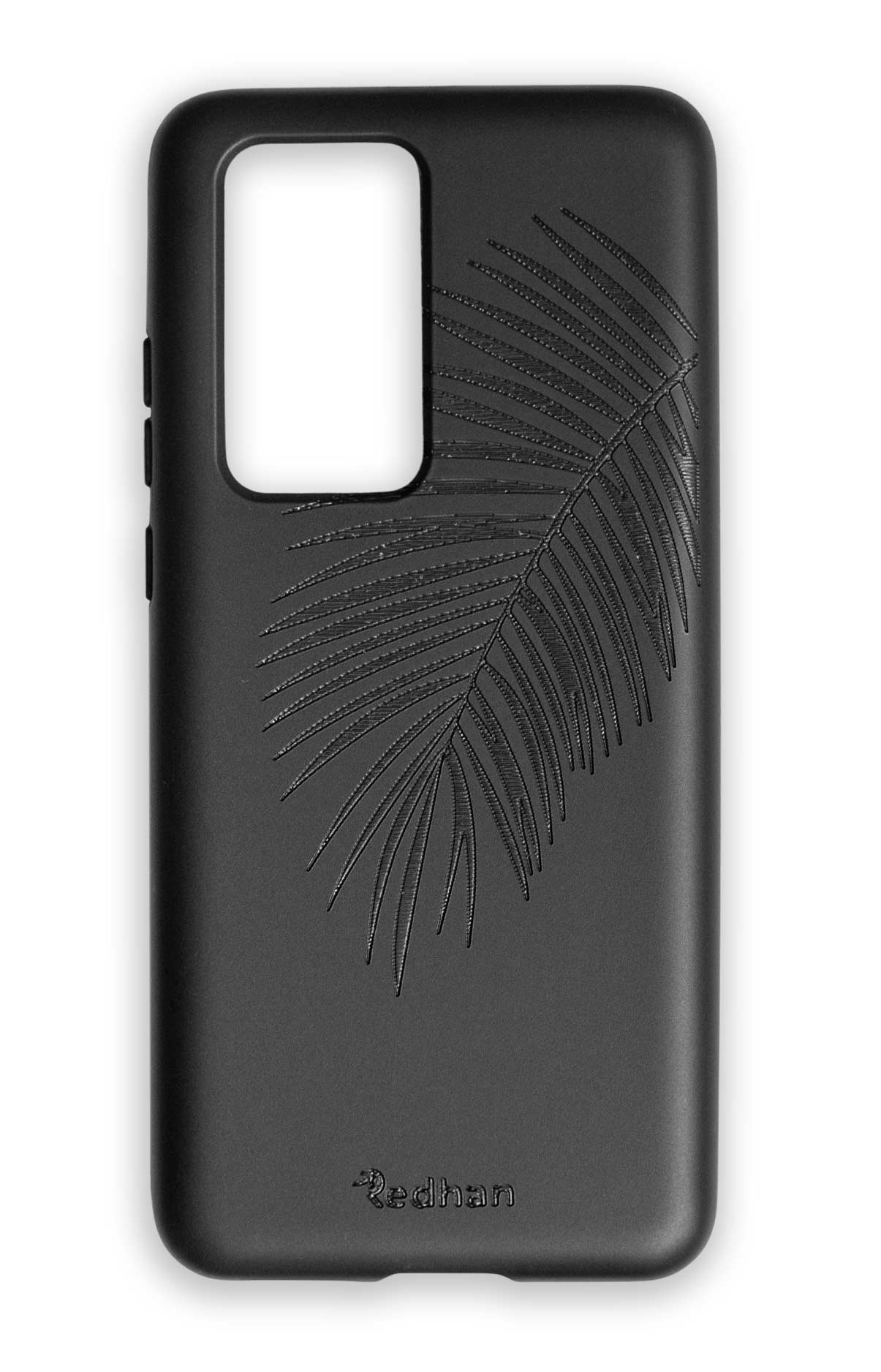 Eco Friendly Huawei P40 Pro Phone Case - Palm Leaf in Pitch Black
