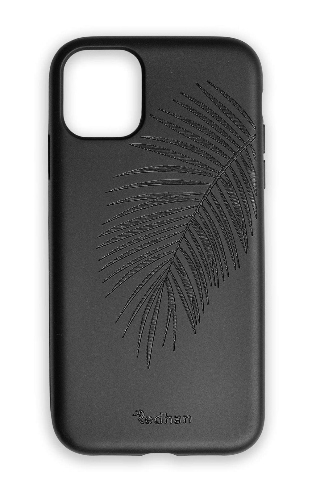 Eco Friendly iPhone 11 Phone Case - Palm Leaf in Pitch Black