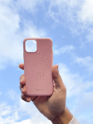 Eco Friendly iPhone 11 Pro Max Phone Case - Palm Leaf in Flamingo Pink