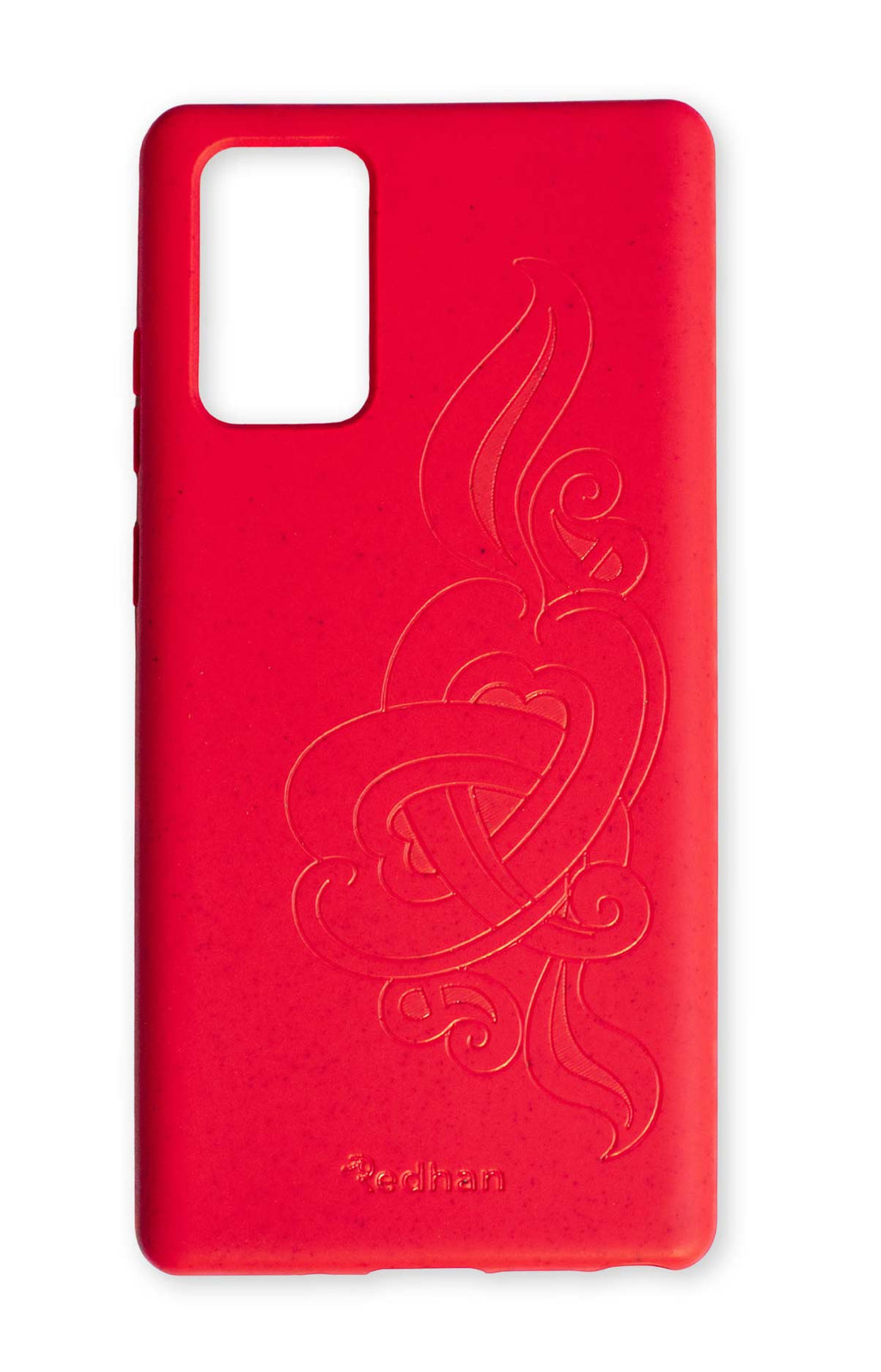 Eco Friendly Note 20 Phone Case - 'Hirigaa' or Stone Art in Ruby Red