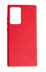 Eco Friendly Note 20 Ultra Phone Case - 'Hirigaa' or Stone Art in Ruby Red