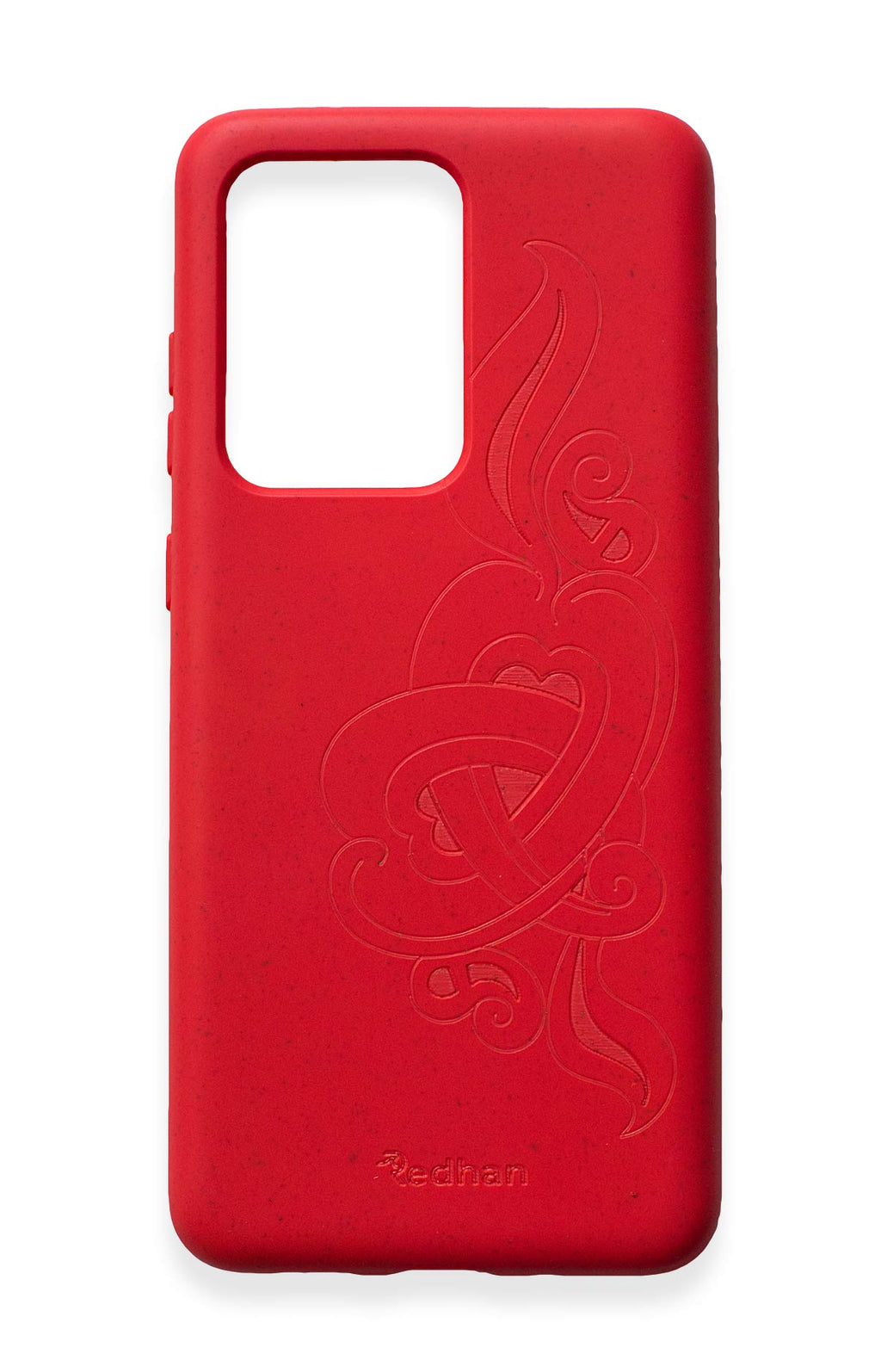 Eco Friendly Galaxy S20 Ultra Phone Case - 'Hirigaa' or Stone Art in Ruby Red