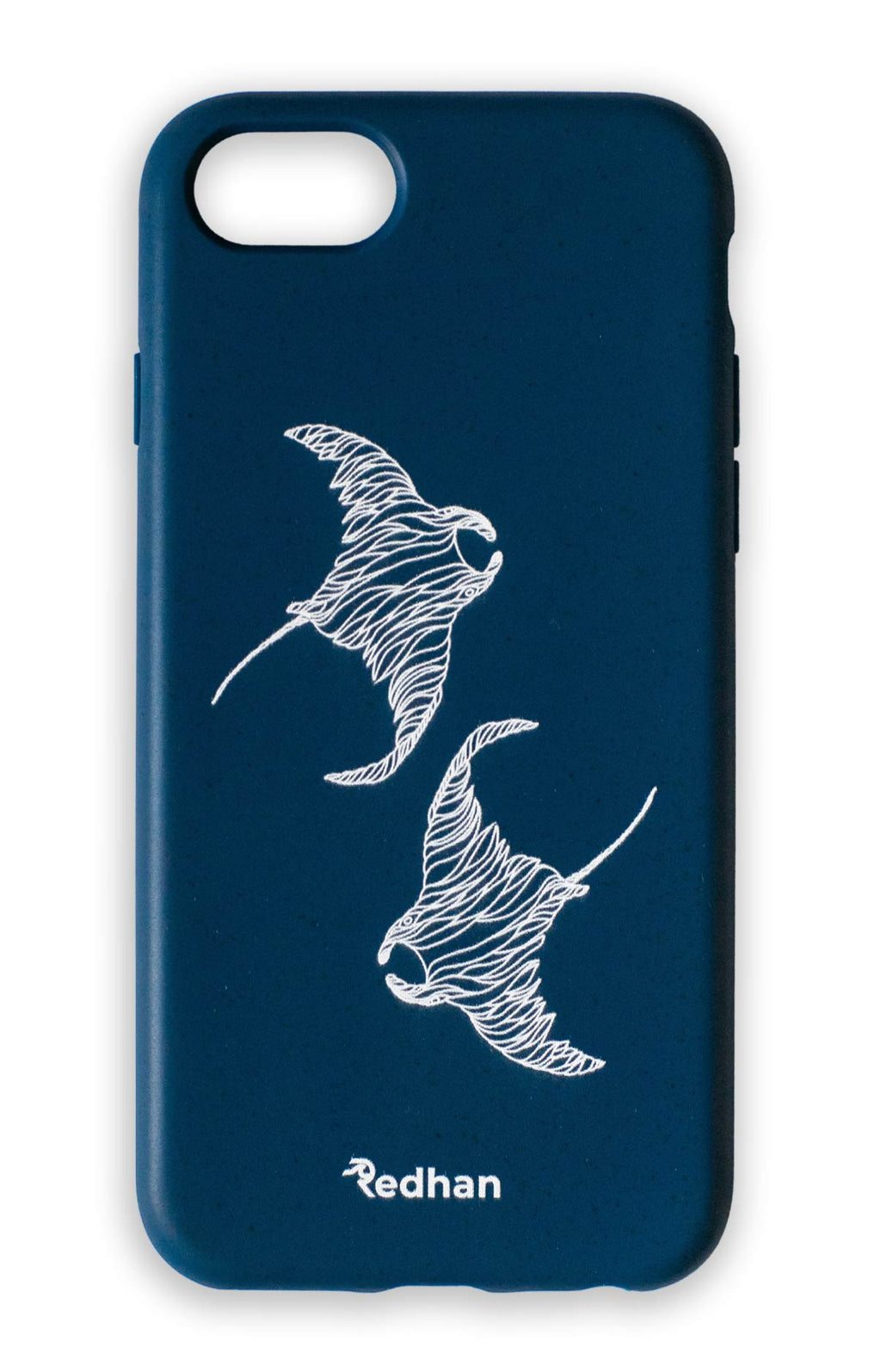 Eco Friendly iPhone 6 / 6S / 7 / 8 / SE (2° Gen) - Manta Fluo en azul navy