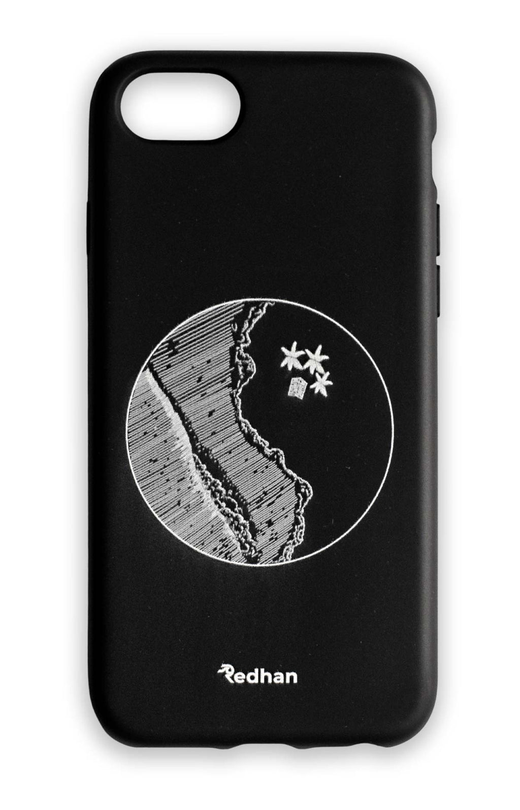 Eco Friendly iPhone 6/6S/7/8/SE (2020) Phone Case - YinYang in Pitch Black