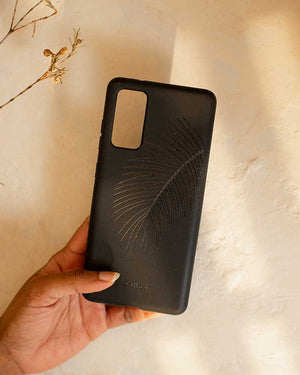 Cover eco-friendly Galaxy S20 FE - foglia di palma in nero pece