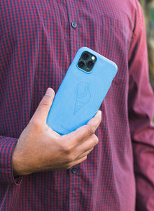 'Sangu' o Conchiglia di Tritone in blu zaffiro - iPhone 11