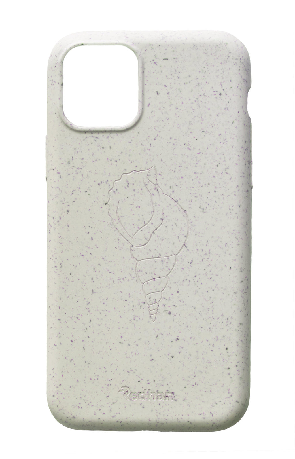 Eco Friendly iPhone  11 Phone Case - 'Sangu' or Triton Shell in Pearl White