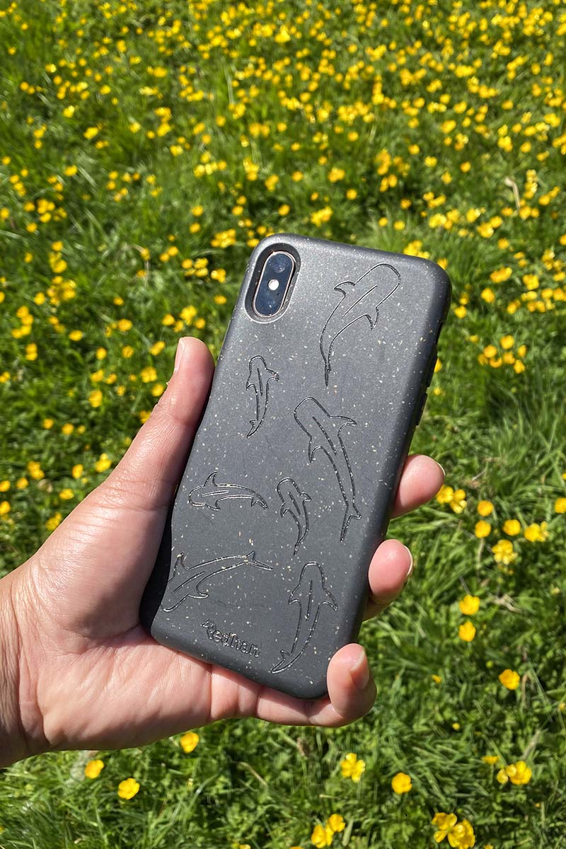 Biodegradable Eco-Frienldy Phone Case, Black iPhone Xs Max Phone Case