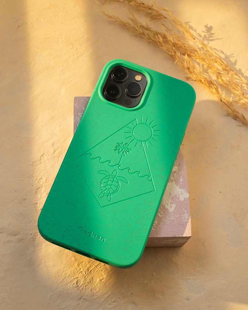 Eco Friendly iPhone 12 / 12 Pro Phone Case - Turtle 2.0 in Turquoise