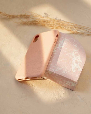 Eco Friendly iPhone XR Phone Case - Whale 2.0 in Blush Pink
