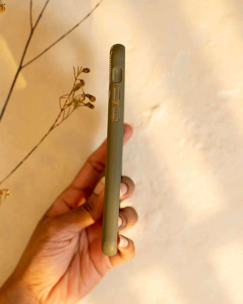 Eco Friendly iPhone X / XS Phone Case - Banana Leaf in Olive Green