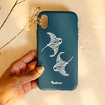 Eco Friendly iPhone X / XS - Manta Fluo in Blue Navy