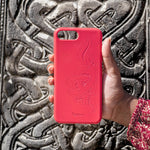Eco Friendly iPhone XR Phone Case - 'Hirigaa' or Stone Art in Ruby Red