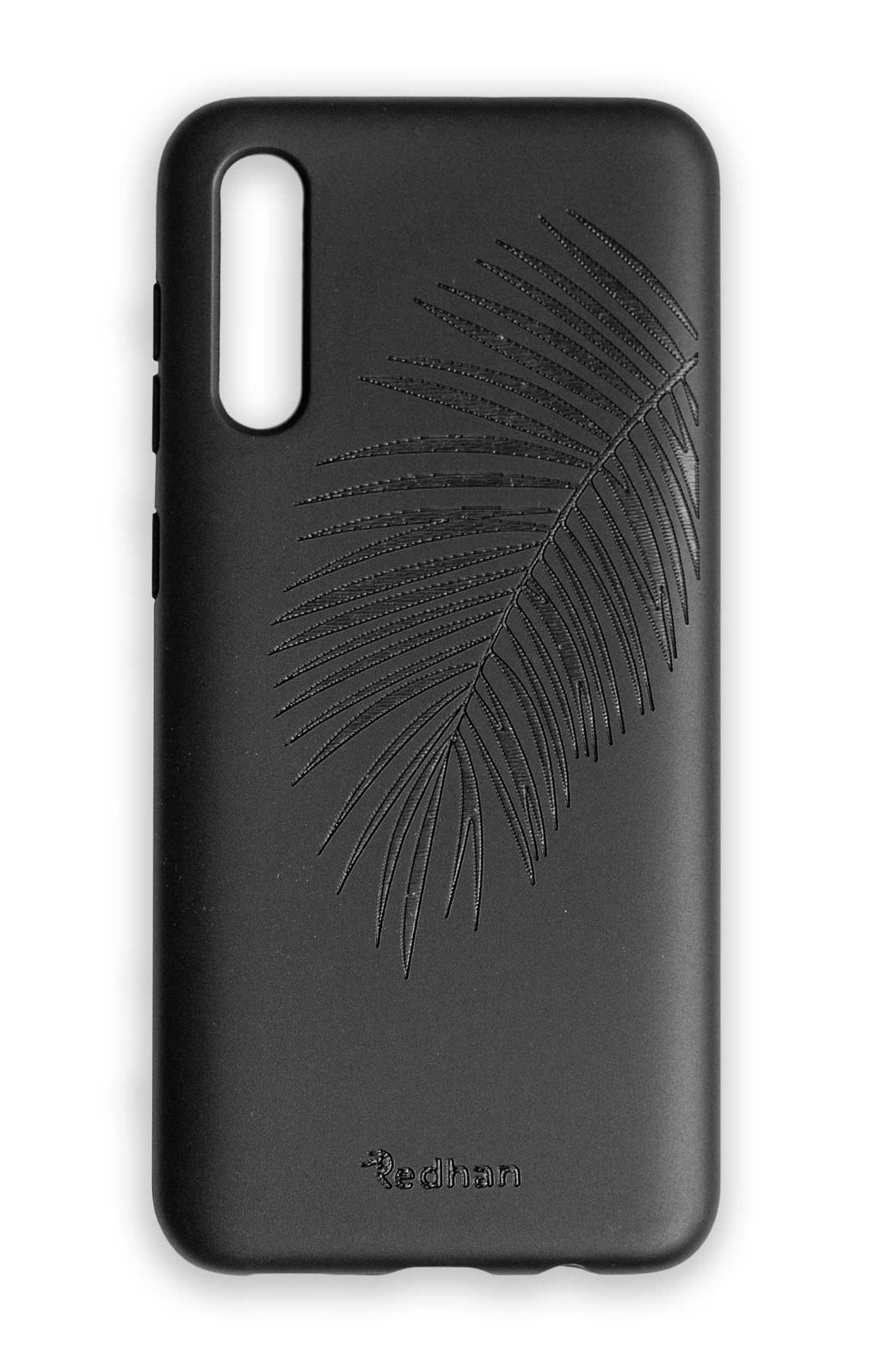 Eco Friendly Samsung A50 Phone Case - Palm Leaf in Pitch Black