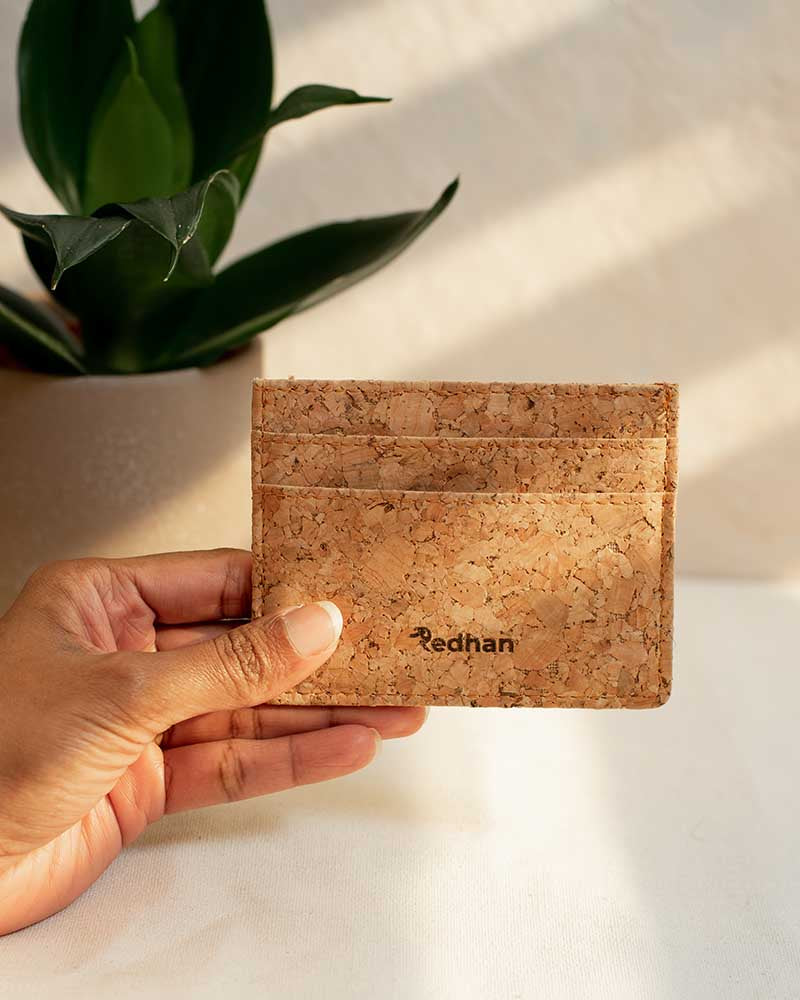 Personalised Cork Leather Card Holder