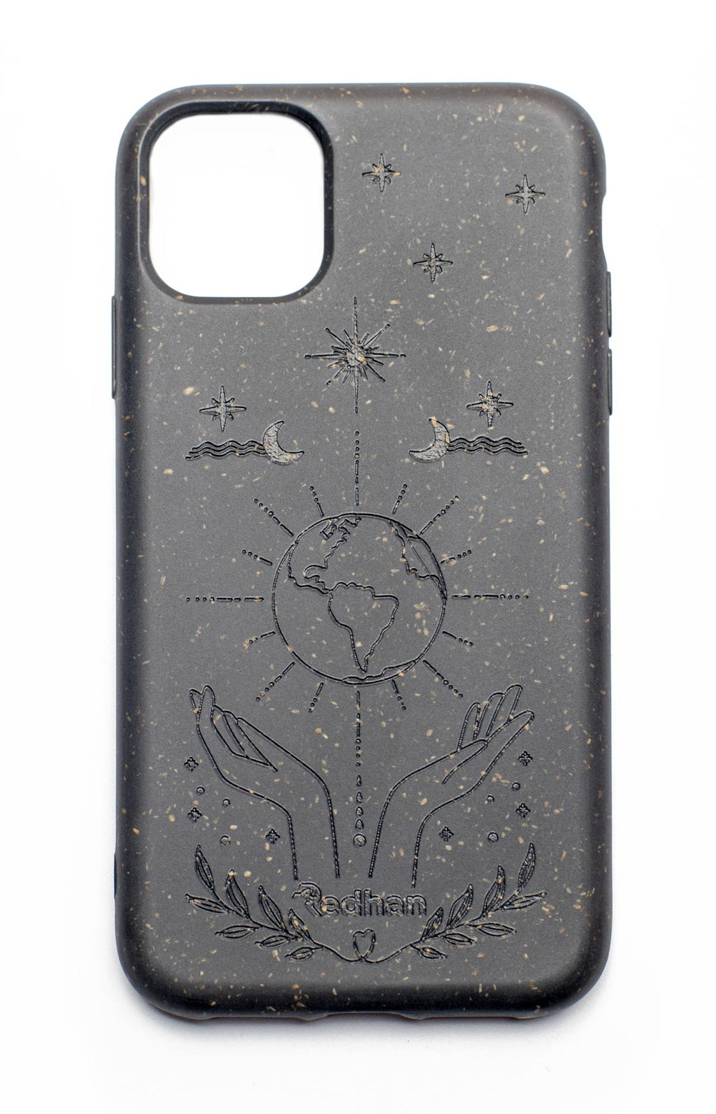 Eco Friendly iPhone 11 Phone Case - Our Planet in Charcoal Black