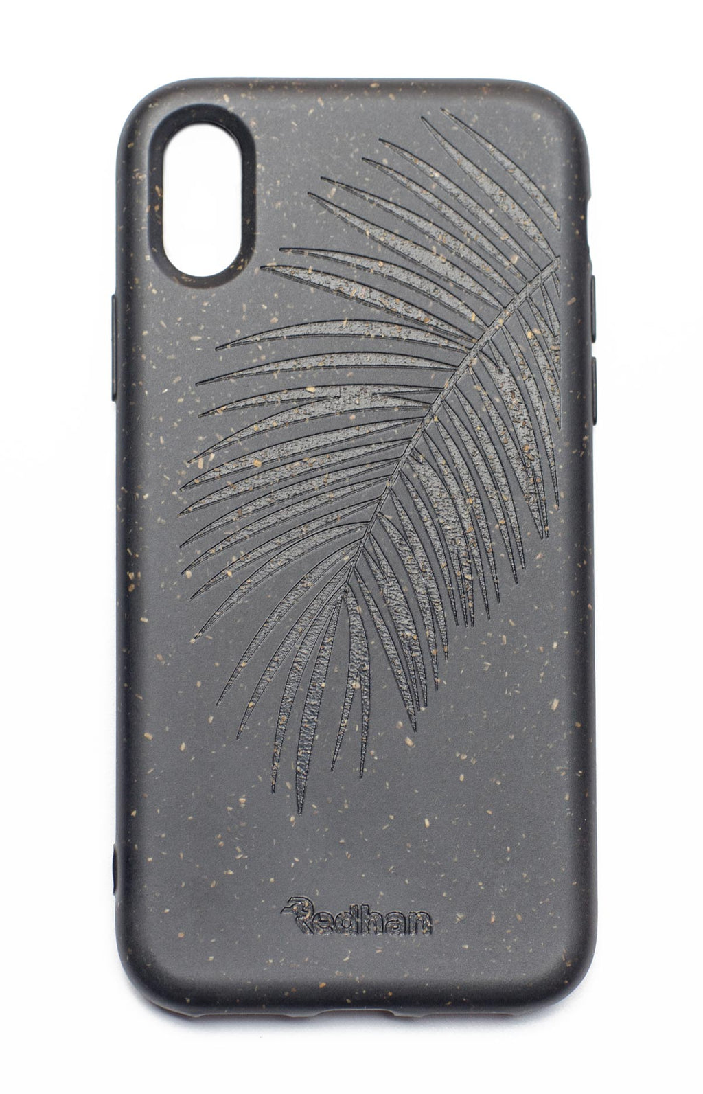 Palm Leaf in Charcoal Black - iPhone X / XS