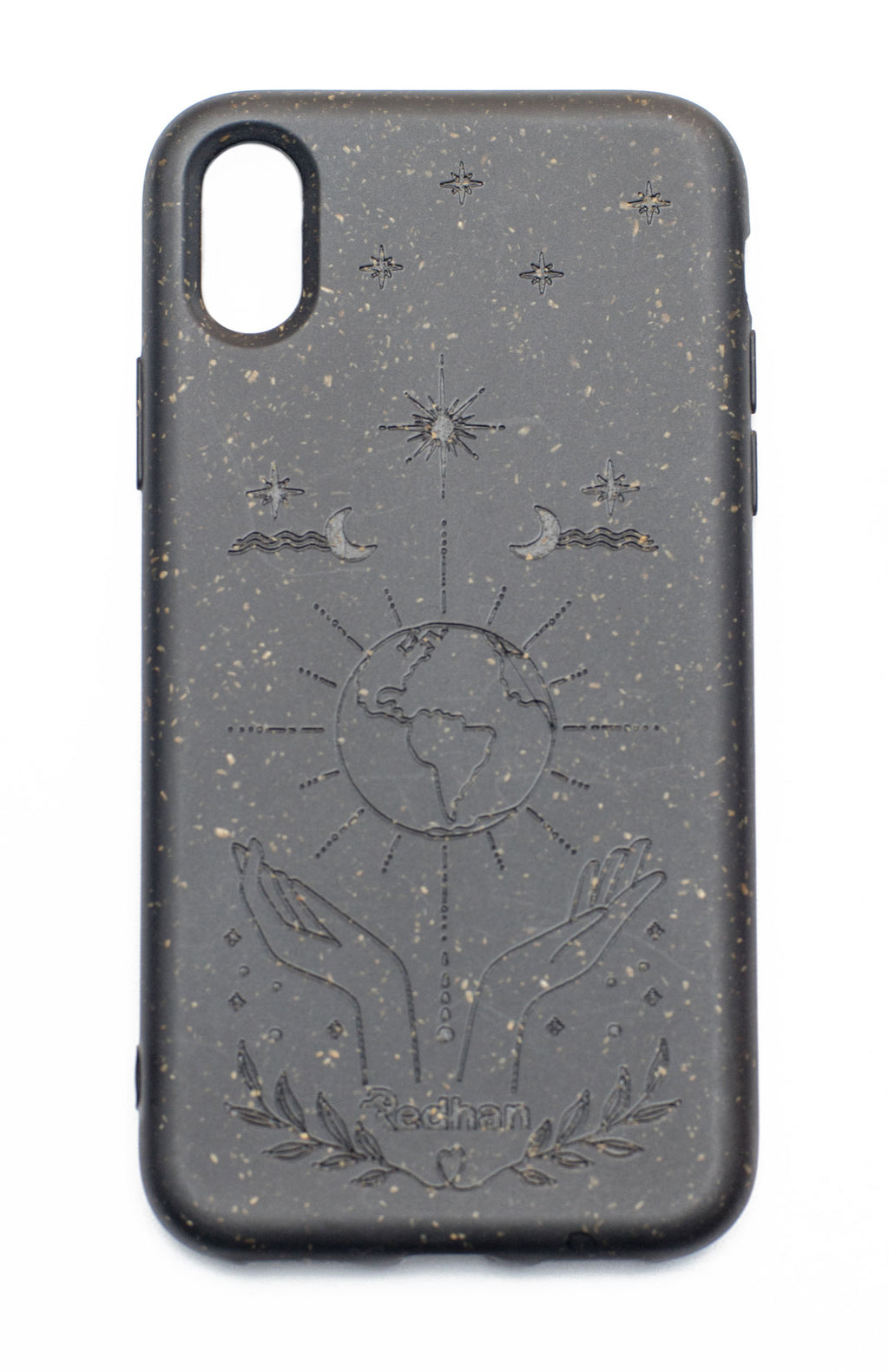 Eco Friendly iPhone X / XS Phone Case - Our Planet in Charcoal Black