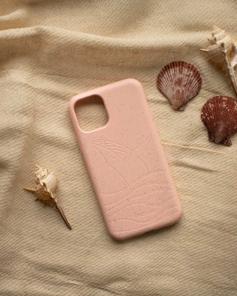 Eco Friendly iPhone 11 Phone Case - Whale 2.0 in Blush Pink