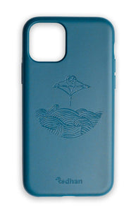 Eco Friendly iPhone 11 Pro Phone Case - Manta Ray in Navy Blue