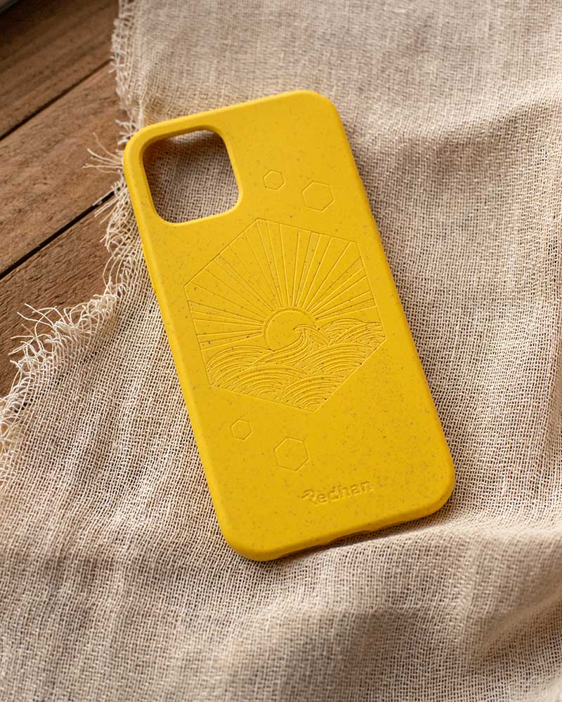 Eco Friendly iPhone 12 Mini Phone Case - Sunset in Yellow