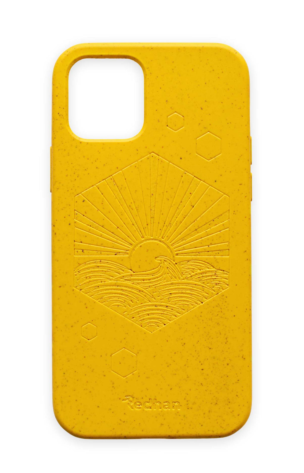 Eco-Friendly Phone Case Yellow,  iPhone 12 Mini Phone case in Yellow, Biodegradable