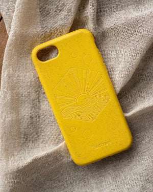 Eco-Friendly Phone Case Yellow, iPhone 6/6S/7/8/SE (2nd Gen) Phone case in Yellow, Biodegradable
