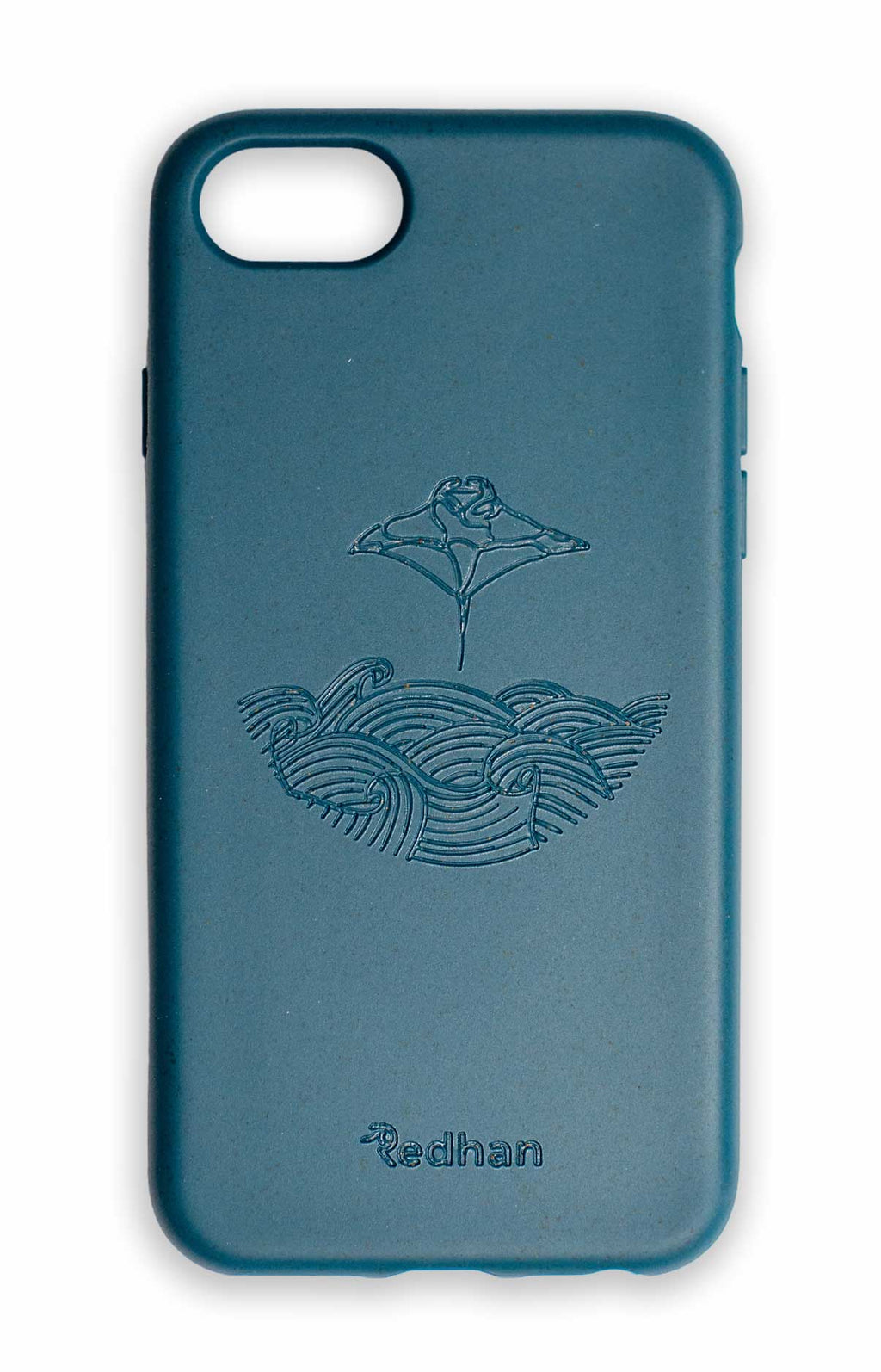 Eco Friendly iPhone 6/6S/7/8/SE(2nd Gen) Phone Case - Manta Ray in Navy Blue