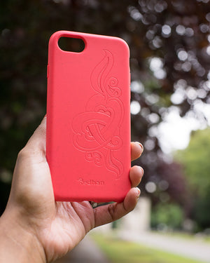 Eco Friendly iPhone  6/6S/7/8/SE (2nd Gen) Phone Case - 'Hirigaa' or Stone Art in Ruby Red