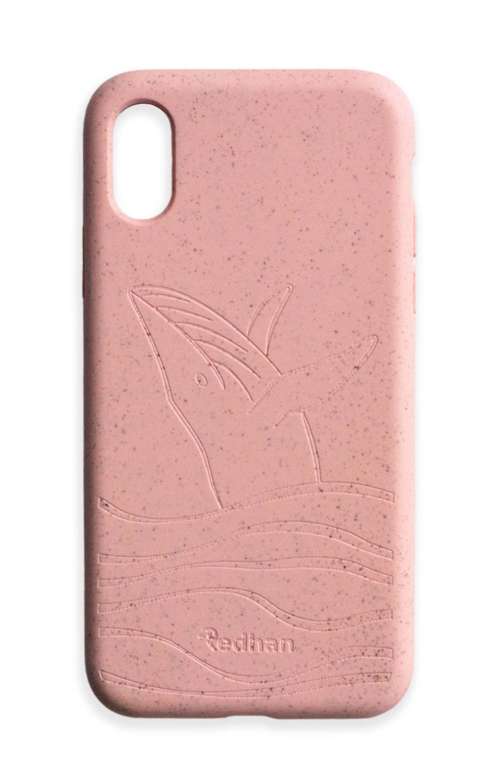 Eco Friendly iPhone X / XS Phone Case - Whale 2.0 in Blush Pink