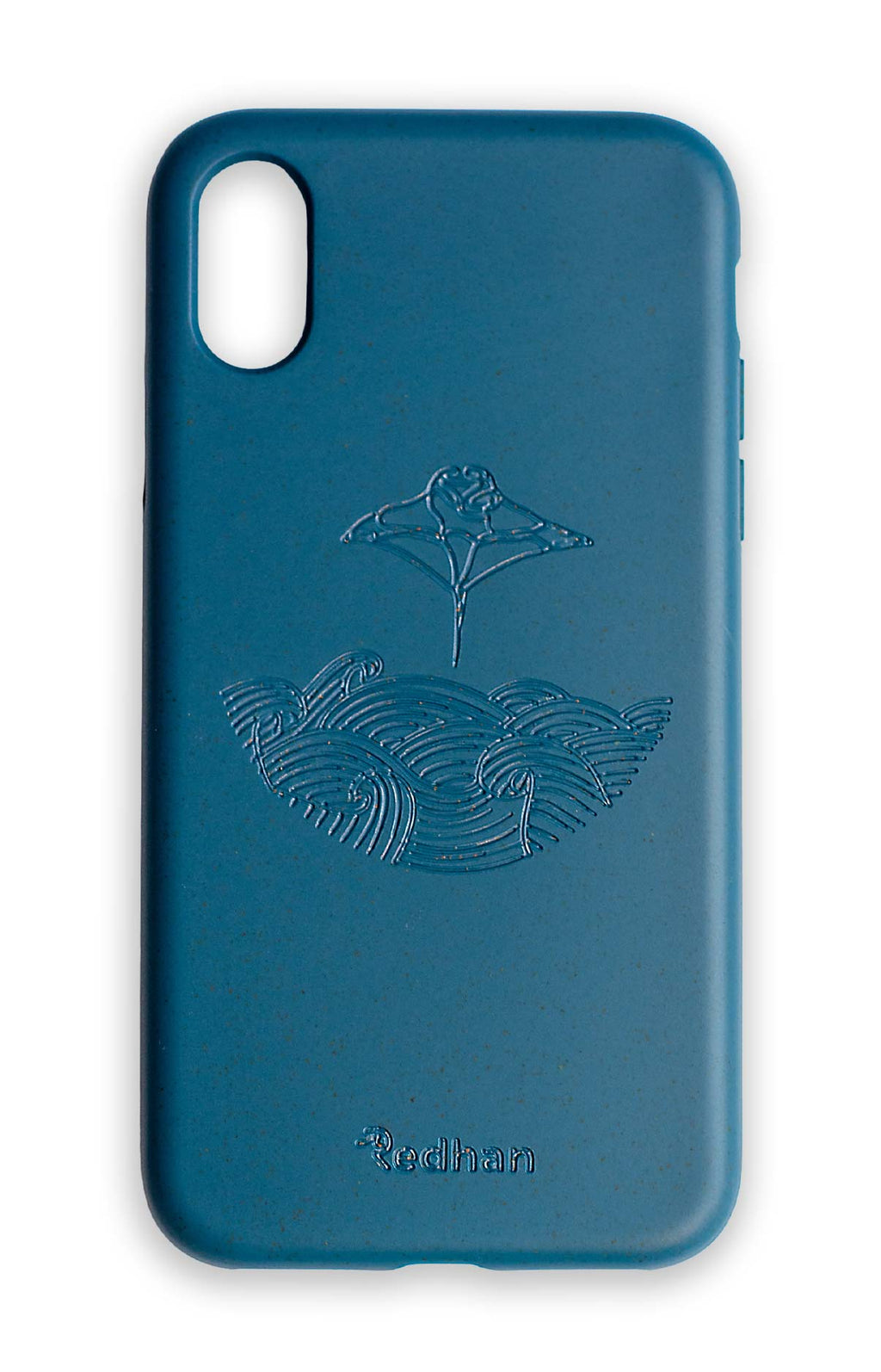 Eco Friendly iPhone XR Phone Case - Manta Ray in Navy Blue