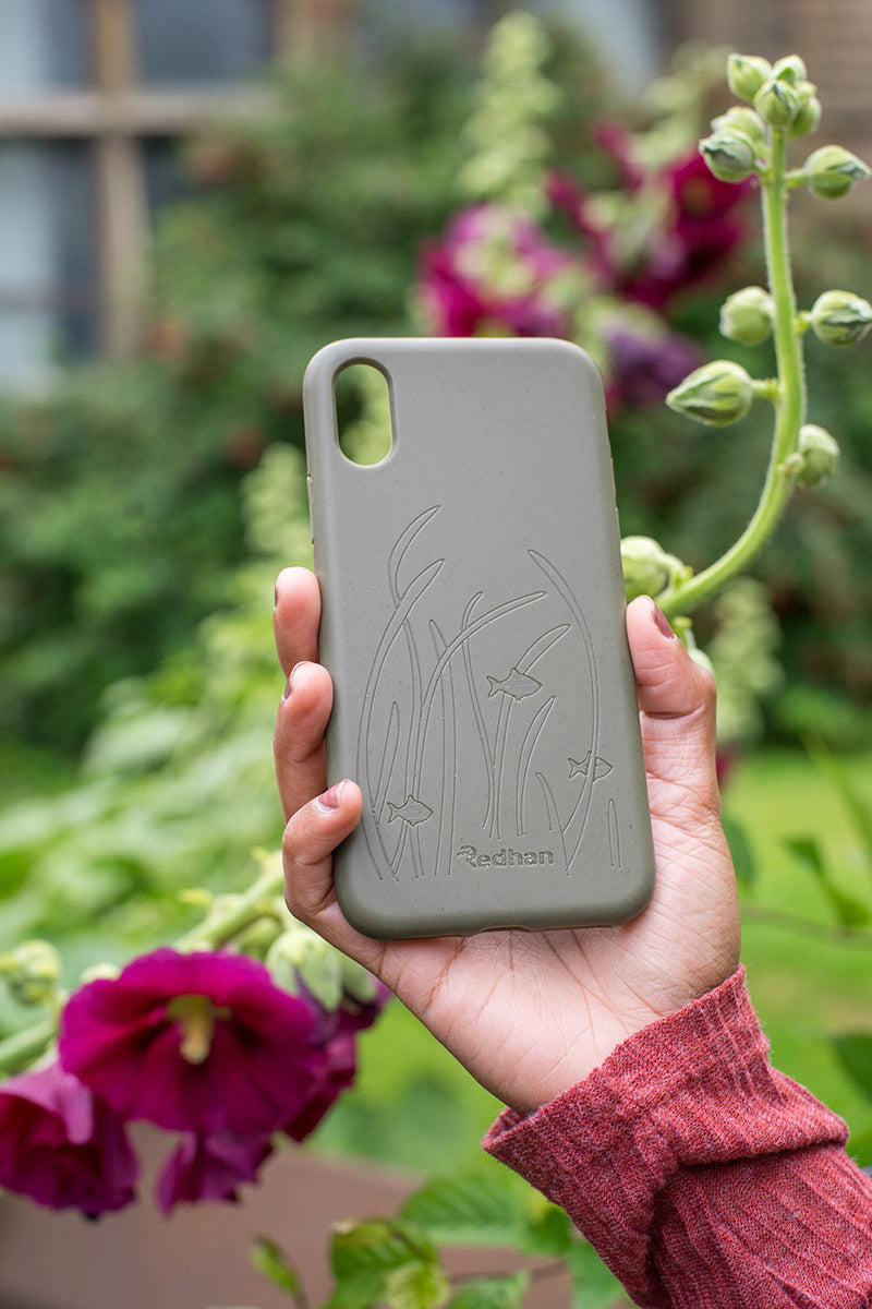 Eco Friendly iPhone XR Phone Case - Seagrass in Olive Green