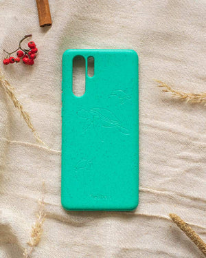 Eco Friendly Huawei P30 Pro Phone Case - Turtle in Turquoise