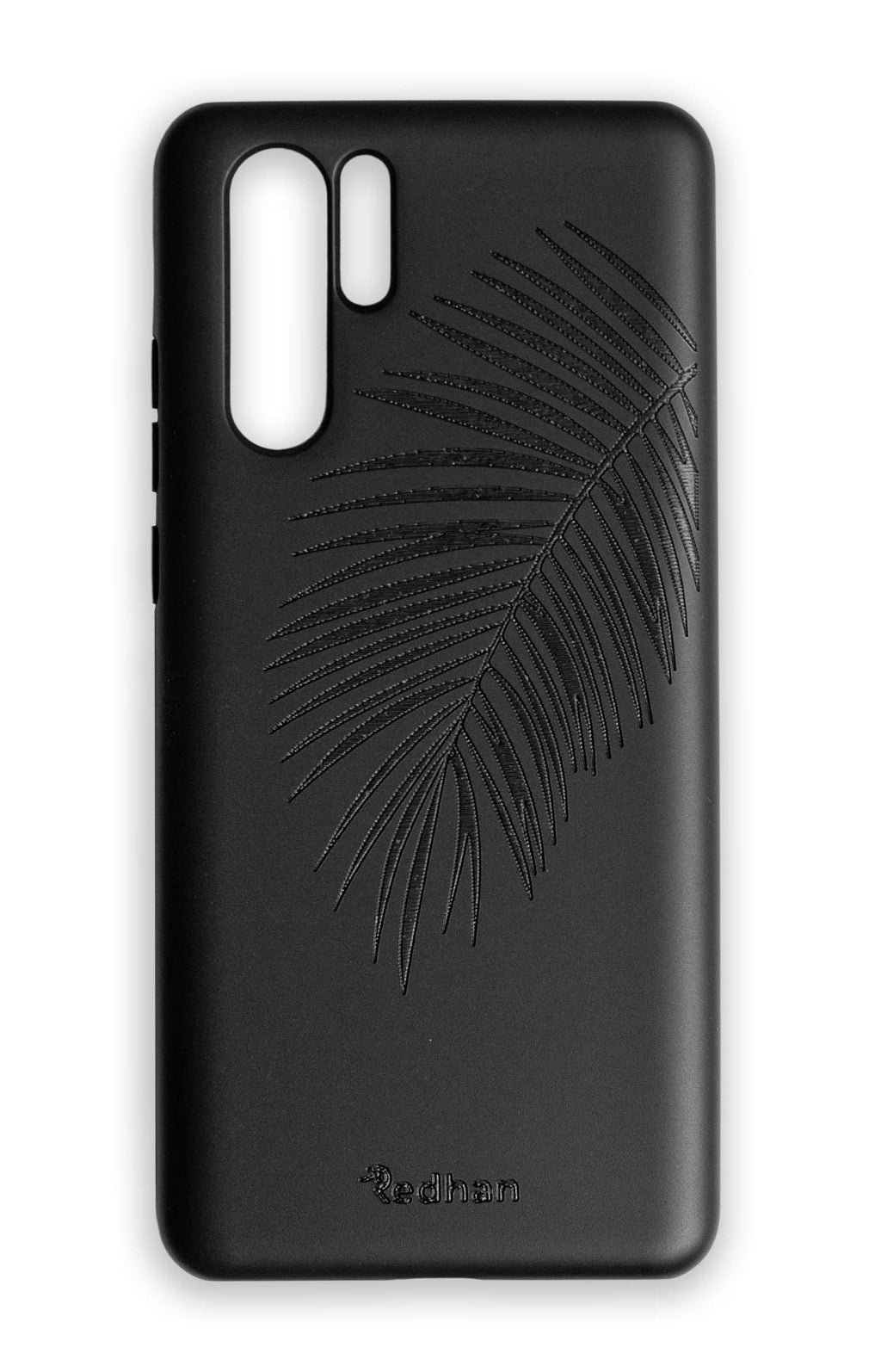 Eco Friendly Huawei P30 Pro Phone Case - Palm Leaf in Pitch Black