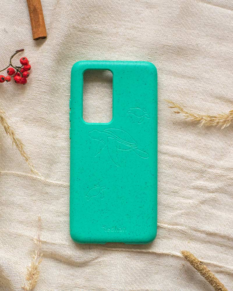 Eco Friendly Huawei P40 Pro Phone Case - Turtle in Turquoise