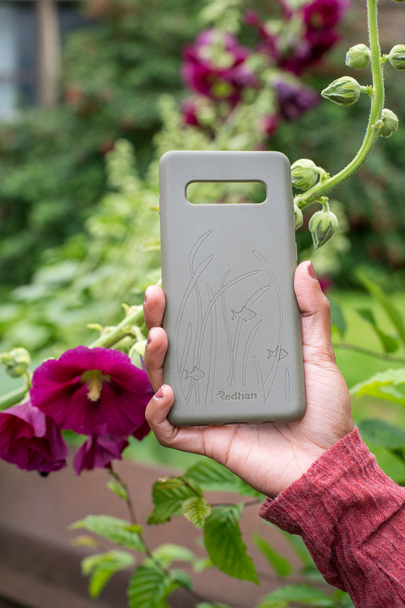 Eco Friendly Galaxy S10+ Phone Case - Seagrass in Olive Green