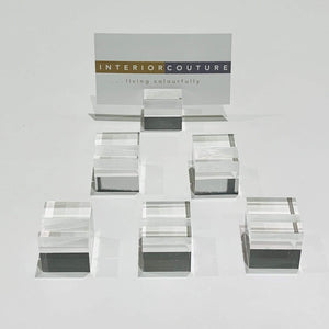Accessory Acrylic Place Card Holders