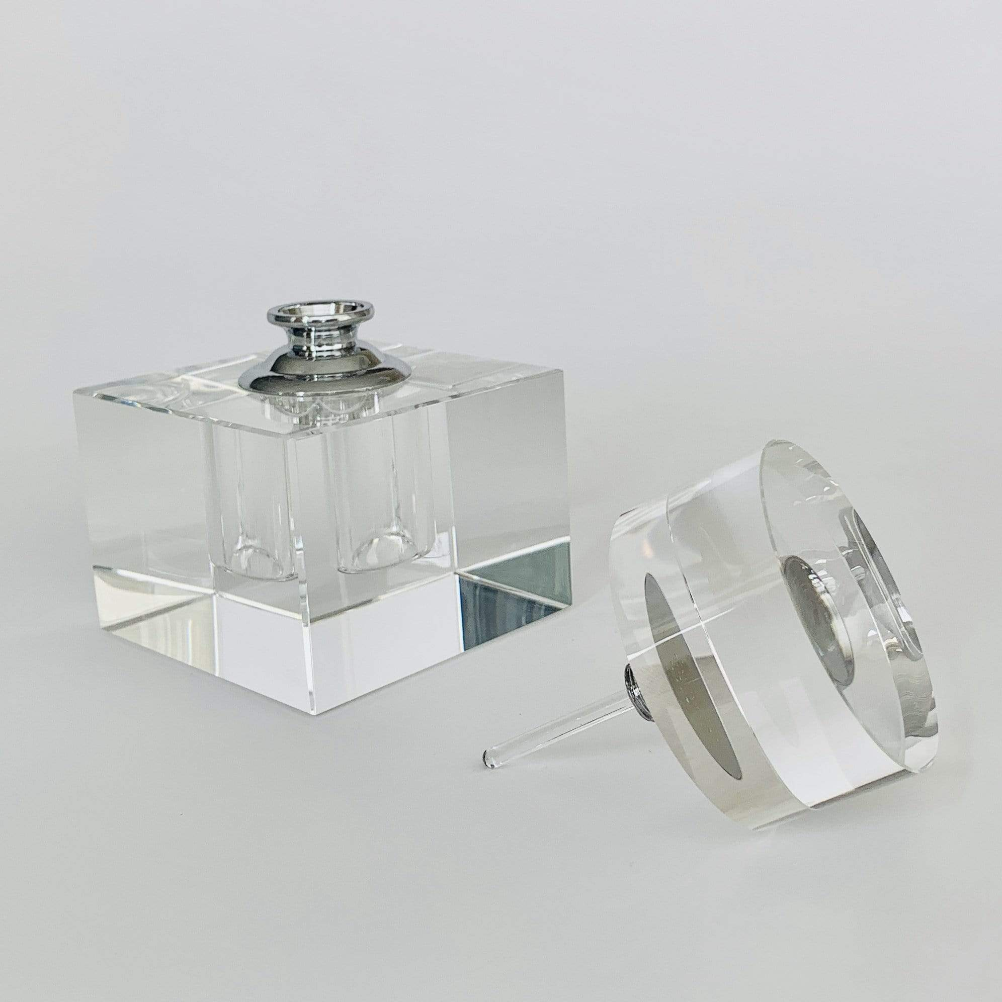 Square Crystal Glass Perfume Bottle