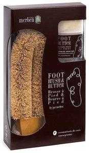 Bath Foot Brush with Coconut Butter