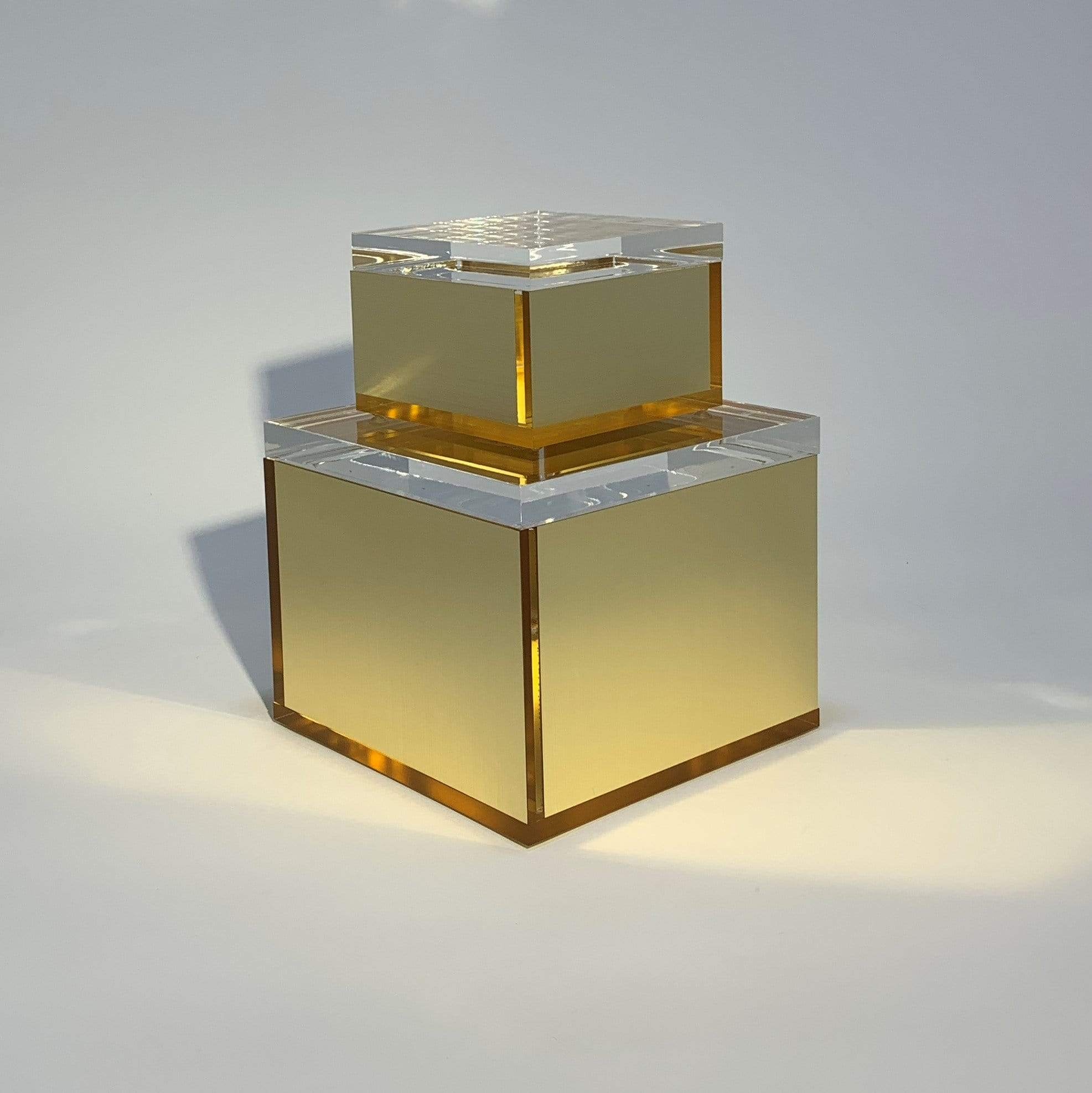 Square Acrylic Box - Gold