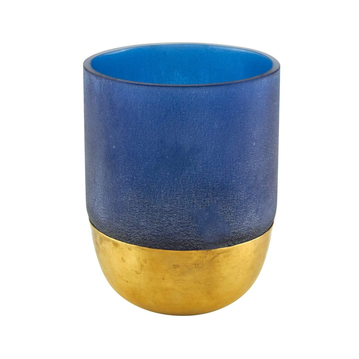 Blue with Gold Base Votive
