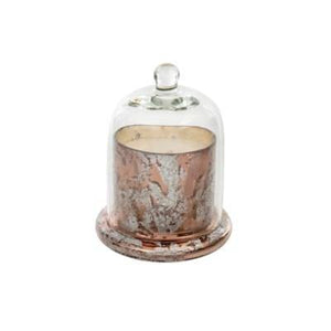 Candle Rose Gold Cloche Candle Small