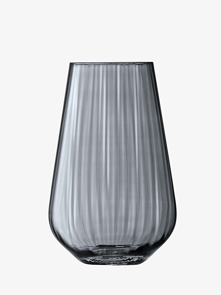 Clear Zinc Ripple Glass Vase Hurricane