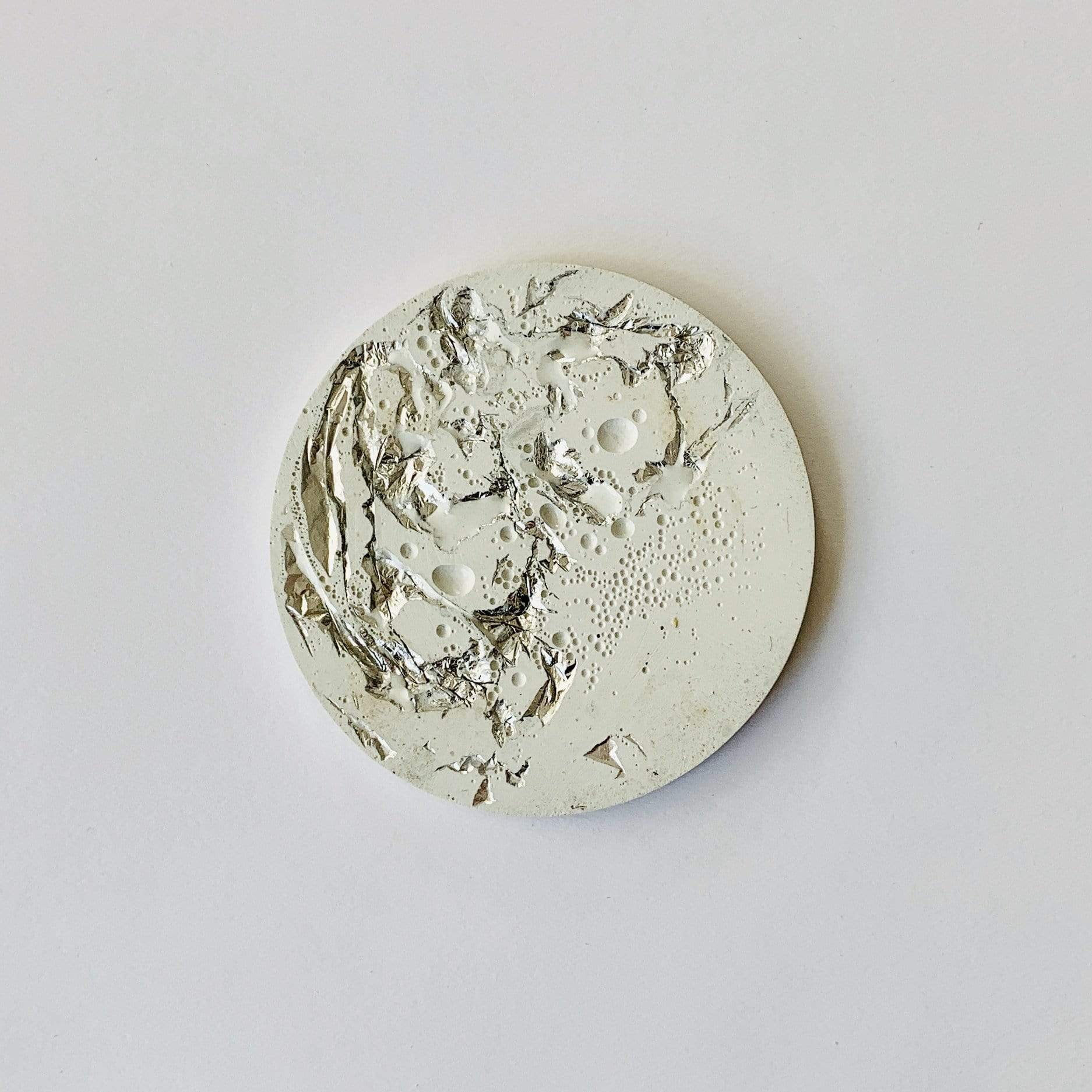 White Concrete Coaster